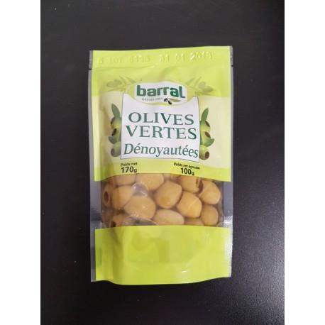 Olives vertes denoyautées