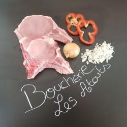 Côte de porc dans le filet